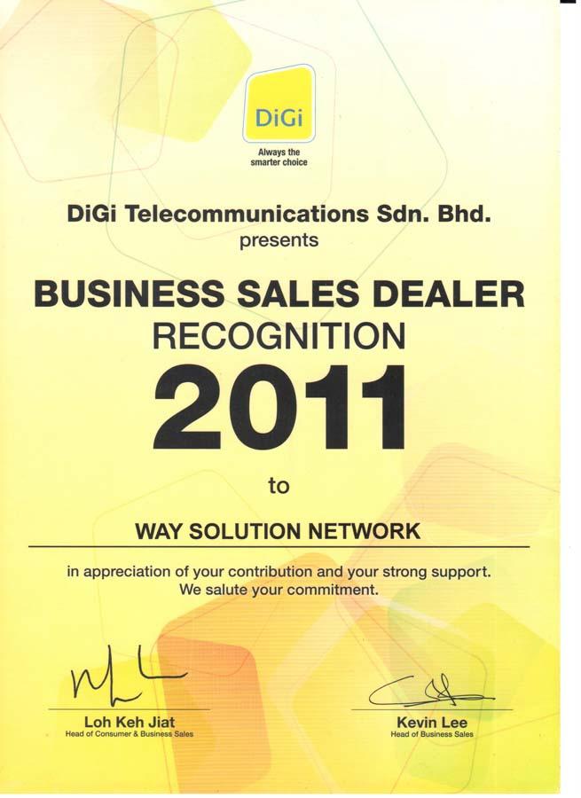 Enterprise Business - Sales Recognition 2011