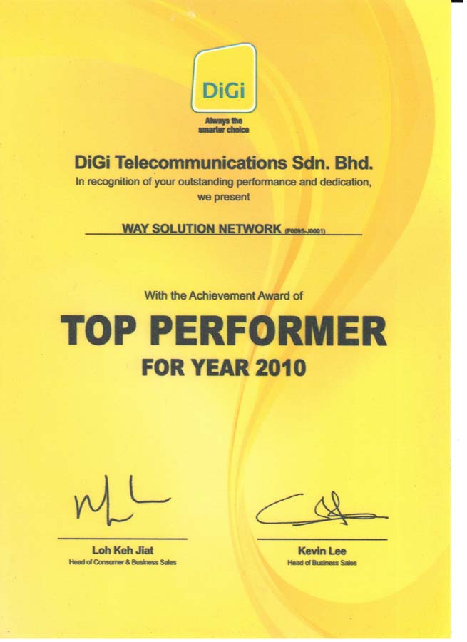 Enterprise Business - Top Performer 2010
