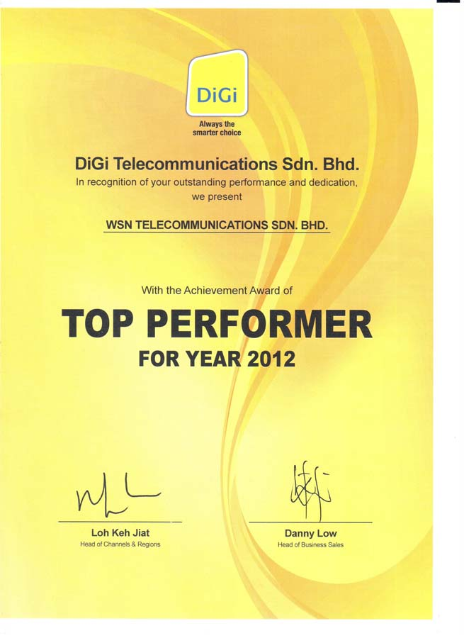 Enterprise Business - Top Performer 2012