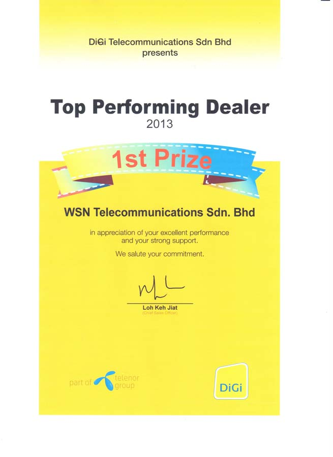 Enterprise Business - Top Performer 2014