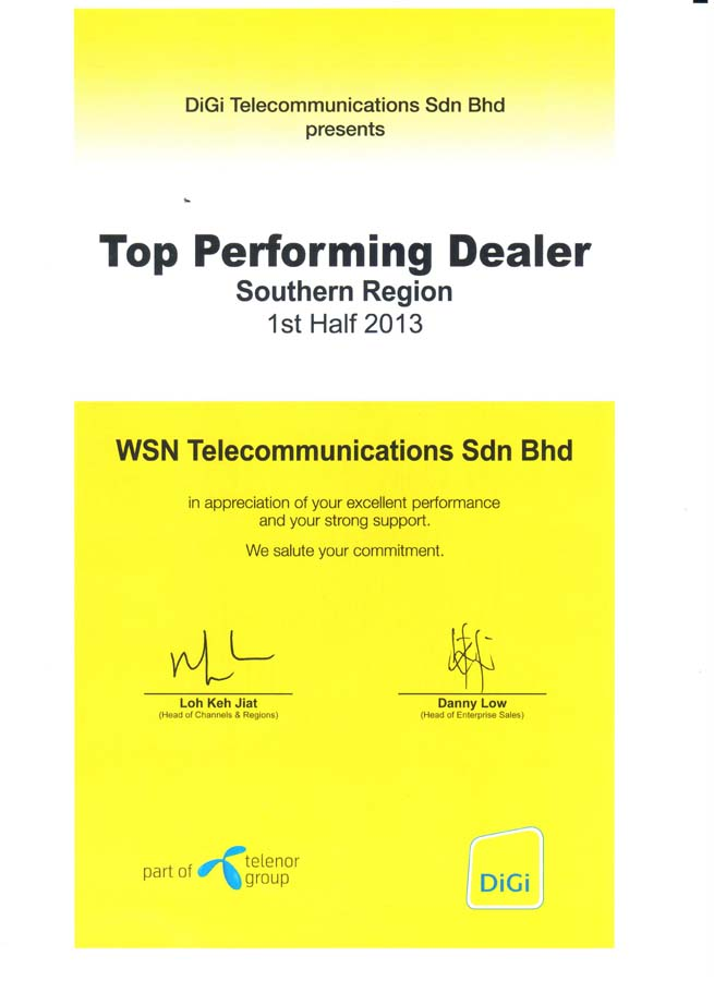 Enterprise Business - Top Performer (Southern) 2013